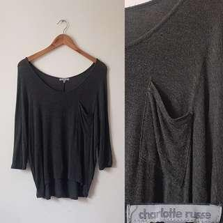 Charlotte Russe Gray Top
