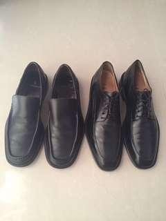 2 pairs of classic leather shoes - Aigner & ColeHaan