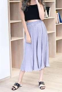 Pleated Culottes in Grey