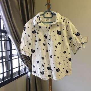 Cat printed top