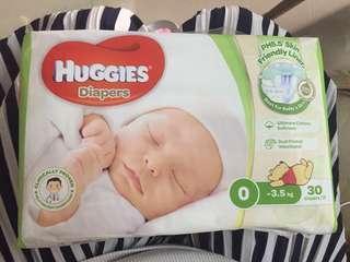 全新Huggies 0碼紙尿片