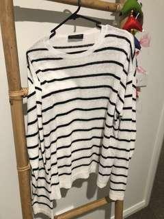 The Fifth Label White Stripe Jumper L