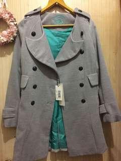 香港設計師品牌 ENIGMA灰色大衣外套