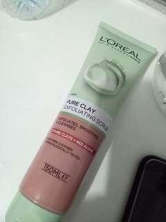 loreal pure clay exfoliating scrub