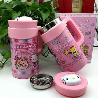 Hello Kitty thermal cup KT HK 500ml Pink cartoon tea filter