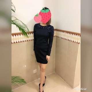 Something Borrowed Long Sleeve Dress