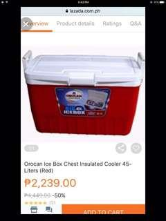 Orocan ice chest box insulated 45L