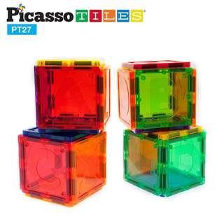 美國畢卡索 PicassoTiles PT27 磁性積木片英文字母組