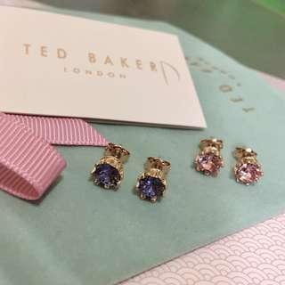(NEW) Twin Set - Ted Baker Swarovski Crystal Crown Earrings