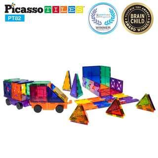 美國畢卡索 PicassoTiles PT82 磁性積木片創意造型組(共10種稀有造型快來收集)