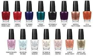 OPI nail polish - variety of colors