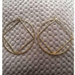Topshop gold hoop earrings never been worn!