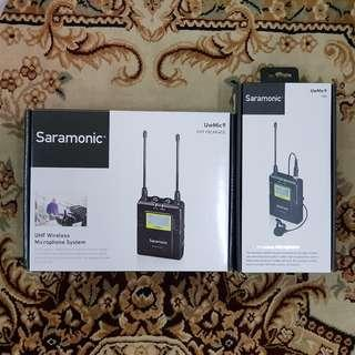 Saramonic Uw Mic 9 Wireless Clip Mic ( Transmitter + Receiver Set ) 1 - 1 UHF Wireless Lavelier Clip Mic System