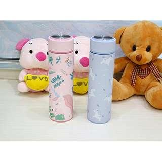 Unicorn thermal flask water bottle with tea filter