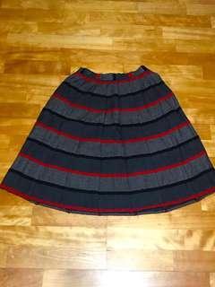 🚚 質感超好ㄉ毛料條紋裙💜