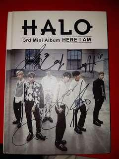Halo here I am signed album