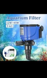3-in-1 Aquarium Fish Tank Oxygen Pump Filter