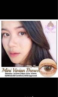 Kitty Kawaii Mini Vivian Brown Contact Lens