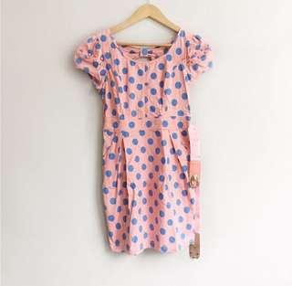 Vintage inspired polka dot studded dress