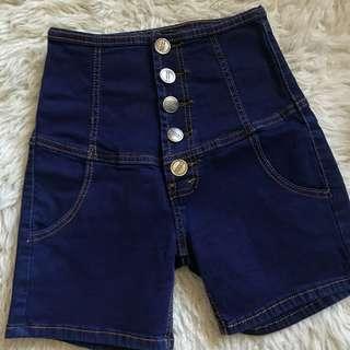 High waist button
