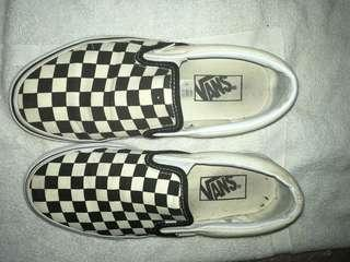 Checkerboard Slip On Vans