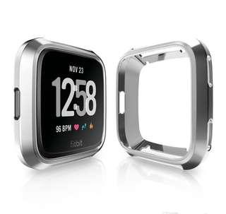 Ultra-thin Soft Plating TPU Protection Silicone Case Cover For Fitbit Versa Silver