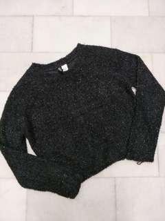 H&M Sparkle Top Black Long Sleeve