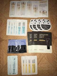Assorted Korean Skincare Samplers