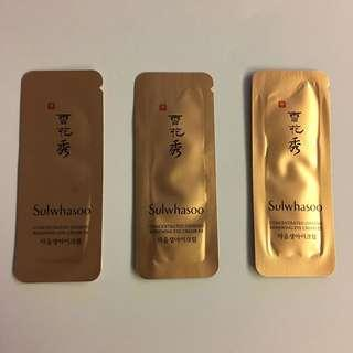 Sulwhasoo Concentrated Ginseng Renewing EYE Cream EX Sample Sachets *3