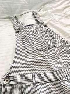 White Short Dungaree/Overalls