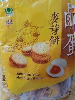 Salted Egg Malt Biscuits