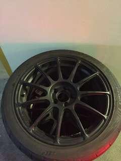 "17"" 5x100 Replica rims w tyres"
