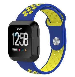Fitbit Versa Watch Strap Band Replacement Blue Yellow