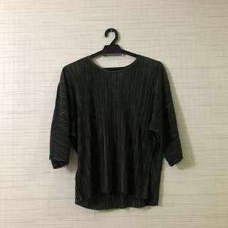 New look ribbed top green
