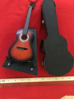 Miniature guitar with stand & case