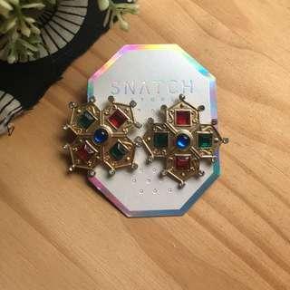 復古寶石耳環