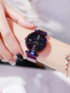 🚚 Instock unisex galaxy magnetic strap watches