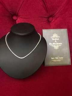 3 Carat Tennis Necklace PT900 with Certificate