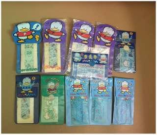 Sanrio Ahiru No Pekkle 鴨仔 膠布 11 包 (Made in Japan) (全圖 ~ 不散賣) 全新 ~ 但有歲月痕跡 ~ 不適合完美主義者 (** 順豐到付 / 或只限北角地鐵站交收 **)