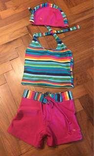 Children Girl 2 piece swim suit