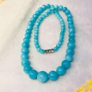天河石塔鍊,顏色鮮豔,粒粒完美,尺寸:12/5mm,虧本賣:860