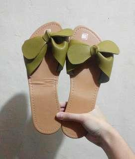 Olive Green Slippers