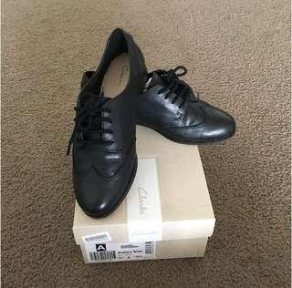 Brand New Clarks Black Leather Shoes
