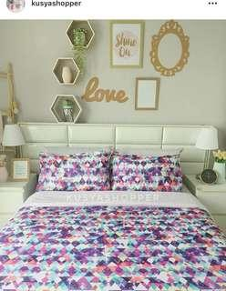 Berry diamond bedsheet queen quilt spotlight ikea ssf cadar murah