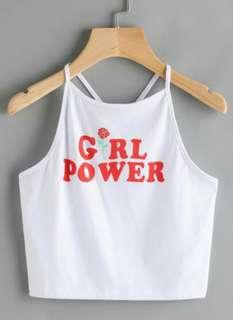 Girl Power Strap Back Top