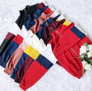 Tri color Track Jacket with zipper