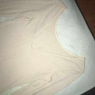 👗Bardot Nude Bodycon Dress 👗