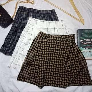 Casual Printed Skater Skirt