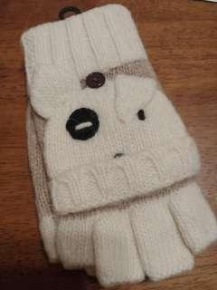 100% New 日本直送 可愛小狗 造型 羊毛手襪 dog puppy doggie wool gloves mittens Japan