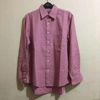 Uniqlo Classic Long Sleeve Shirt Red